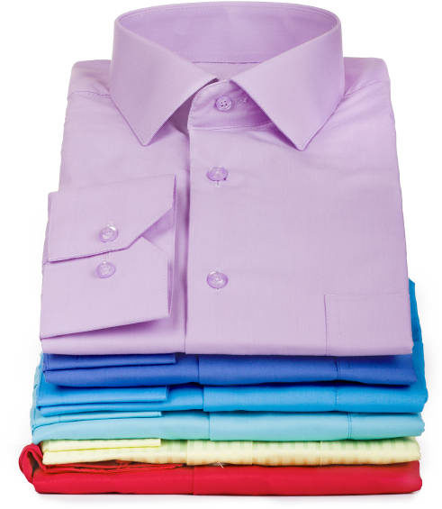 folded business shirts