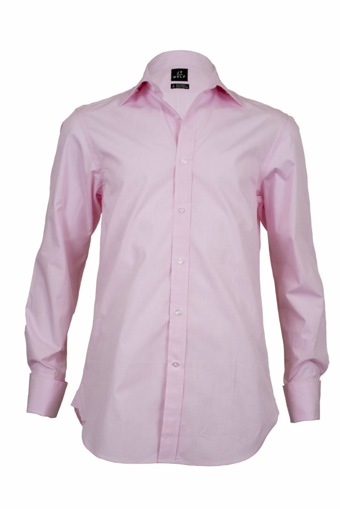french solid pink business shirts f