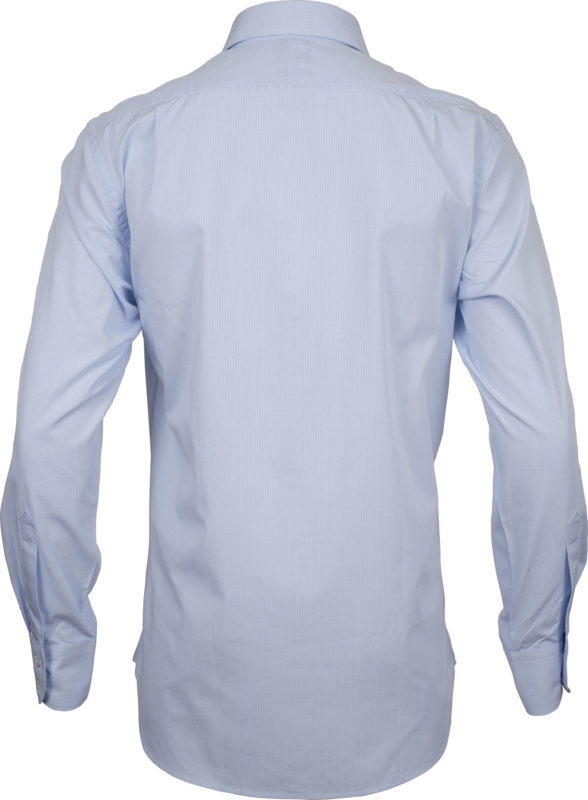 classic fit check pale blue business shirts back
