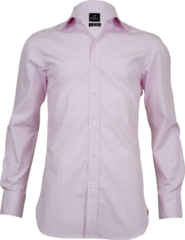 classic fit check pink business shirts front