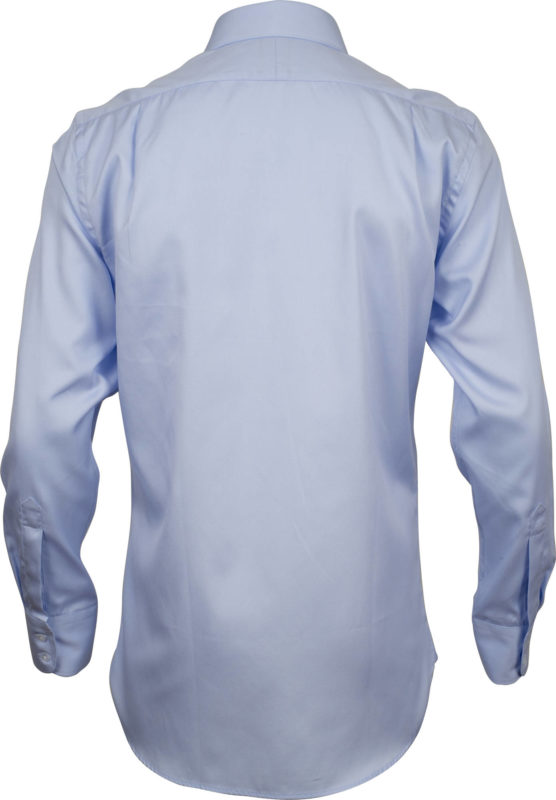 classic fit pale blue solid business shirts back