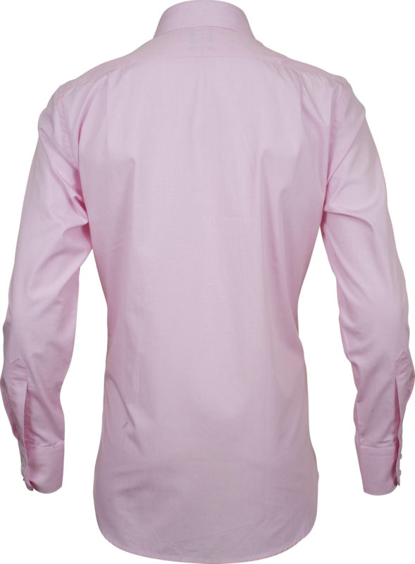 classic fit solid pink business shirts back