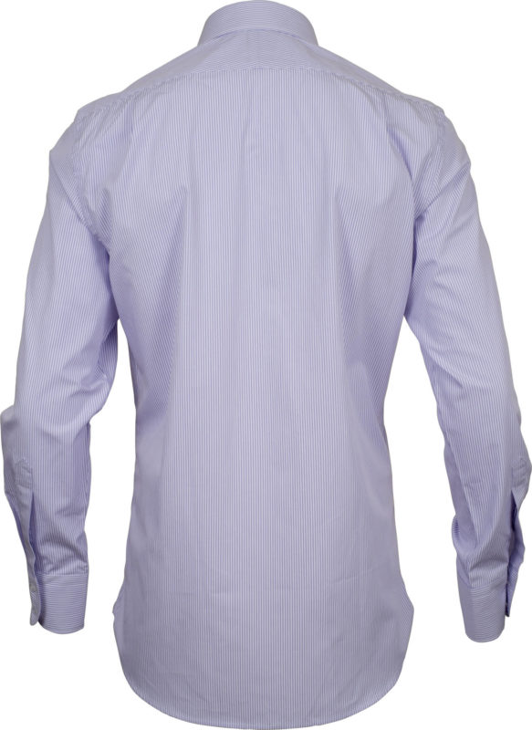 classic fit stripe mauve business shirts back