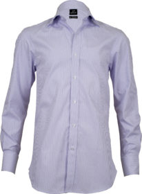 classic fit stripe mauve business shirts front