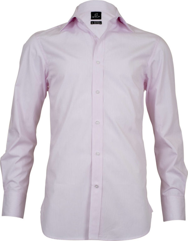 classic fit stripe pink business shirts front