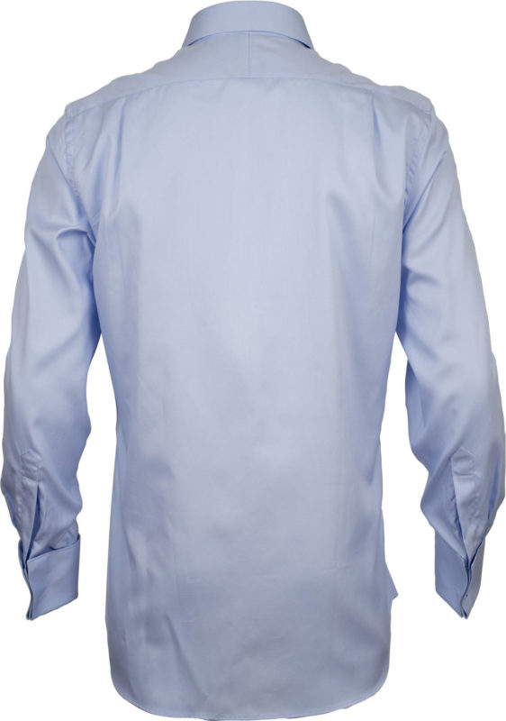 french cuff solid pale blue business shirts back