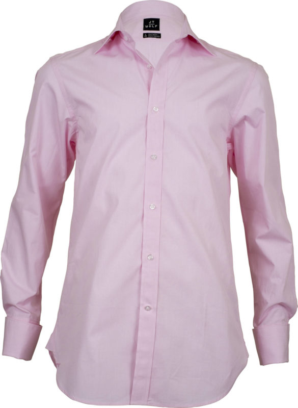 french cuff solid pink business shirts front