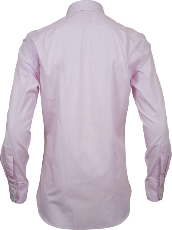 slim fit check pink business shirts back