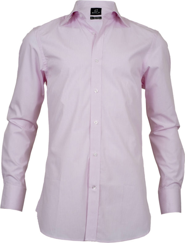 slim fit check pink business shirts front