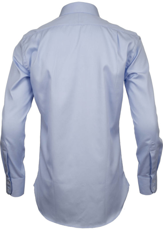 slim fit pale blue solid business shirts back