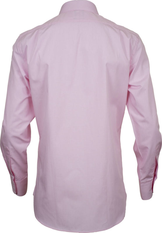 slim fit solid pink business shirts back