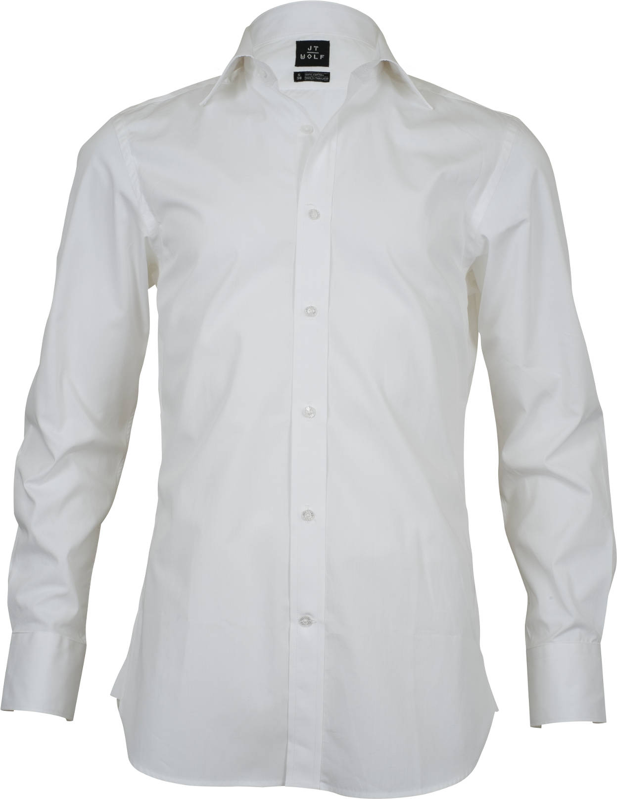 Slim Fit White Solid Business Shirts - JT Wolf Business Shirts