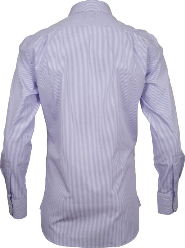slim fit stripe mauve business shirts back