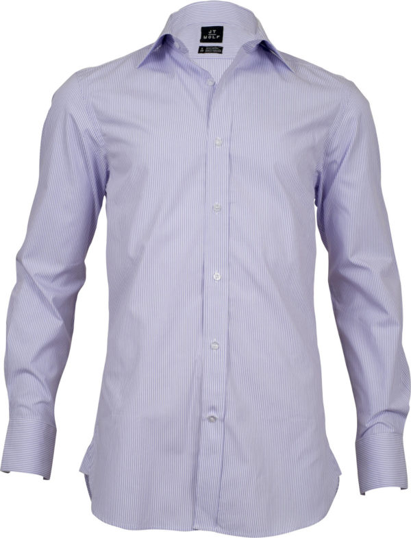 slim fit stripe mauve business shirts front