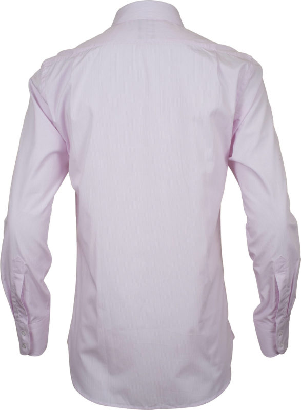 slim fit stripe pink business shirts back