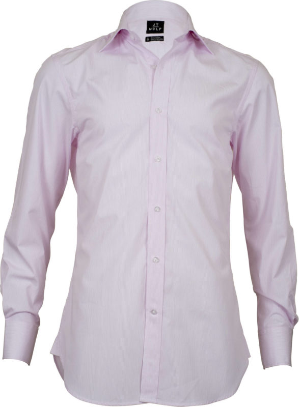 slim fit stripe pink business shirts front