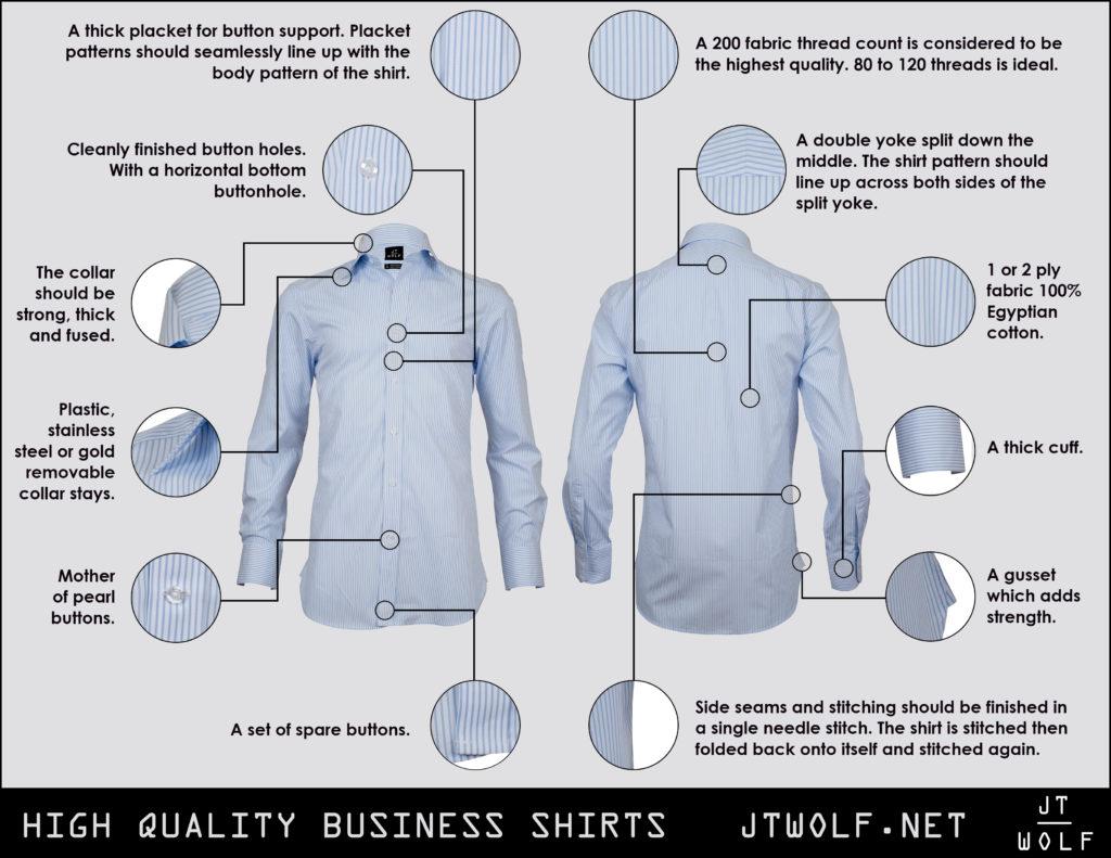 high quality business shirts